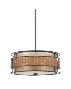 Elstead Lighting Quoizel Laguna 4 Light Pendant In Renaissance Copper Finish With Height Adjustable Rods
