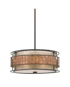 Elstead Lighting Quoizel Laguna 4 Light Pendant In Renaissance Copper Finish With Height Adjustable Rods