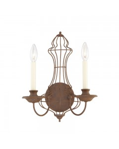 Elstead Lighting Quoizel Laila 2 Light Wall Light In Rustic Antique Bronze Finish
