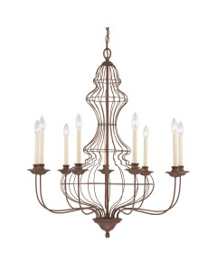 Elstead Lighting Quoizel Laila 9 Light Large Chandelier In Rustic Antique Bronze Finish