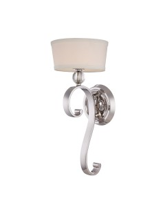Elstead Lighting Quoizel Madison Manor 1 Light Wall Light In Imperial Silver Finish