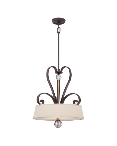 Elstead Lighting Quoizel Madison Manor 4 Light Pendant In Western Bronze Finish With Height Adjustable Rods