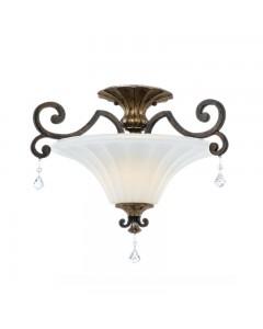 Elstead Lighting Quoizel Marquette 2 Light Semi-Flush Ceiling Light In Heirloom Finish
