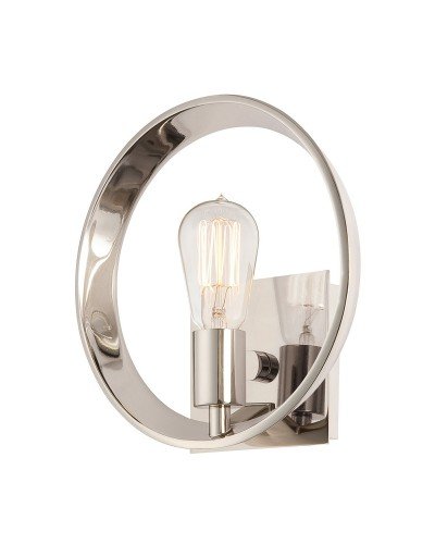 Quoizel Theater Row 1 Light Wall Light In Imperial Silver Finish