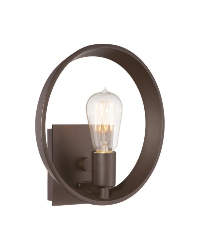 Quoizel Theater Row 1 Light Wall Light In Western Bronze Finish