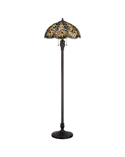 Quoizel Tiffany Belle 2 Light Floor Lamp In Imperial Bronze Finish