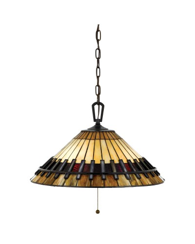 Quoizel Tiffany Chastain 3 Light Pendant In Vintage Bronze Finish