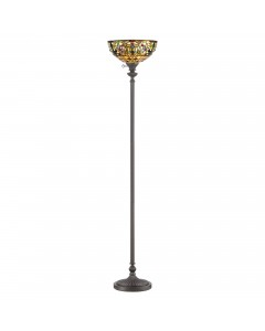 Quoizel Tiffany Kami 1 Light Floor Uplighter In Vintage Bronze Finish