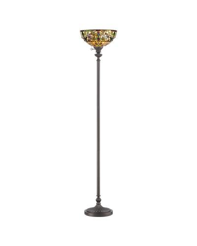 Quoizel Tiffany Kami 1 Light Floor Uplighter In Vintage Bronze Finish