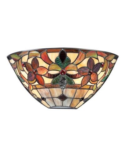 Quoizel Tiffany Kami 2 Light Wall Uplighter In Vintage Bronze Finish