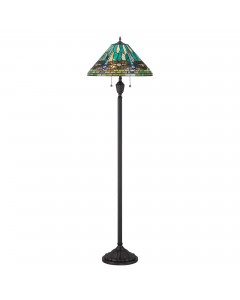 Quoizel Tiffany King 2 Light Floor Lamp In Vintage Bronze Finish