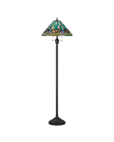 Quoizel Tiffany King 2 Light Floor Lamp In Vintage Bronze Finish