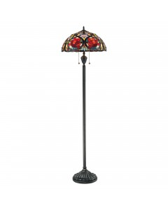 Quoizel Tiffany Larissa 2 Light Floor Lamp In Vintage Bronze Finish