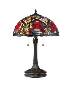 Elstead Lighting - Quoizel Tiffany - Larissa 2 Light Table Lamp In Vintage Bronze Finish