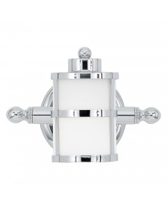 Quoizel Tranquil Bay 1 Light Bathroom Wall Light In Polished Chrome Finish With Opal Glass (IP44)