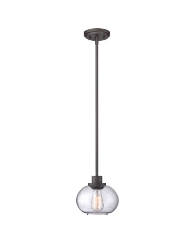 Quoizel Trilogy 1 Light Pendant In Old Bronze Finish With Height Adjustable Rods