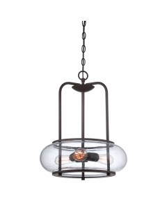 Quoizel Trilogy 3 Light Pendant In Old Bronze Finish