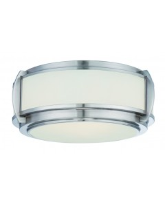 Quoizel Wilkinson 3 Light Flush Ceiling Light In Brushed Nickel Finish