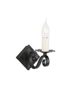 Elstead Lighting Rectory 'A' Hand-Forged 1 Light Wall Light In Black Finish