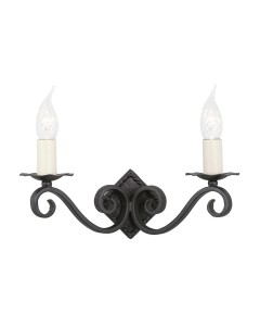 Elstead Lighting Rectory 'A' Hand-Forged 2 Light Wall Light In Black Finish