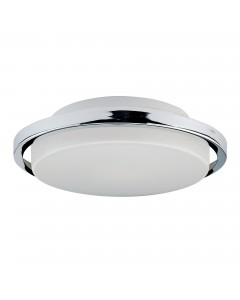 Elstead Lighting Ryde 7W LED Bathroom Flush Mounted Ceiling Light In Polished Chrome Finish (IP44)