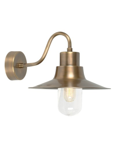 Elstead Lighting Sheldon 1 Light Solid Brass Outdoor Wall Lantern In Brass Finish