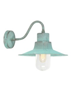 Elstead Lighting Sheldon 1 Light Solid Brass Outdoor Wall Lantern In Verdigris Finish