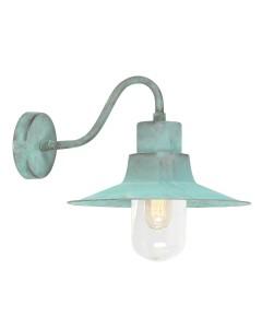 Elstead Lighting Sheldon 1 Light Solid Brass Outdoor Wall Lantern In Verdigris Finish