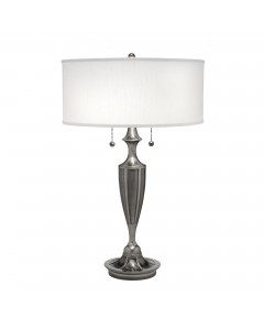 Stiffel Gatsby 2 Light Table Lamp In Antique Nickel Finish With Global White Shade