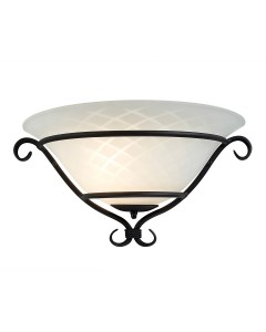 Elstead Lighting Torchiere 1 Light Wall Uplighter In Black Finish With Optic Opal White Patterned Glass