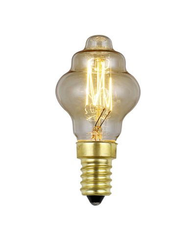 Elstead Lighting Vintage Style Filament Bulb: 25 Watt E14 Small Edison Screw; Retro Style