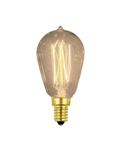 Elstead Lighting Vintage Style Filament Bulb: 25 Watt E14 Small Edison Screw; Valve Shaped