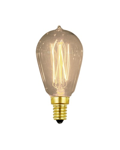 Elstead Lighting Vintage Style Filament Bulb: 25 Watt E14 Small Edison Screw; Valve Shaped