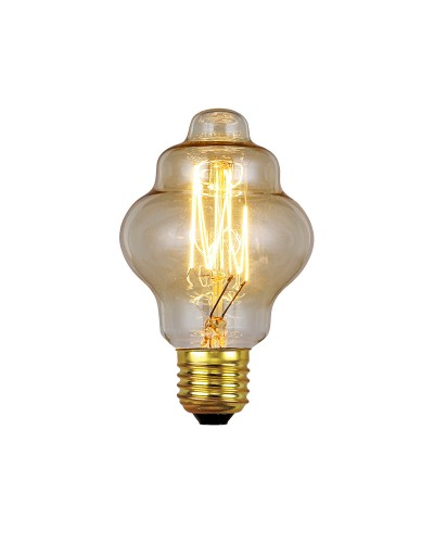 Elstead Lighting Vintage Style Filament Bulb: 60 Watt E27 Edison Screw; Retro Style
