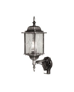 Elstead Lighting Wexford 1 Light Outdoor Security Wall Lantern In Black/ Silver Finish With PIR Sensor