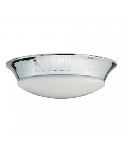 Elstead Lighting Whitby 7W LED Bathroom Flush Mounted Ceiling Light In Polished Chrome Finish (IP44)