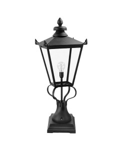Elstead Lighting Wilmslow 1 Light Outdoor Large Pedestal Lantern In Black Finish