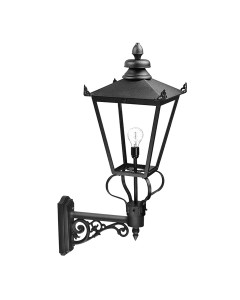 Elstead Lighting Wilmslow 1 Light Outdoor Large Wall Lantern In Black Finish