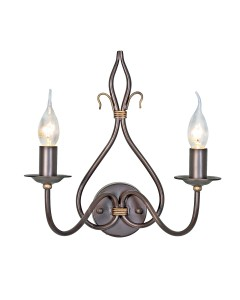 Elstead Lighting Windemere 2 Light Wall Light In Rust/Gold Patina Finish