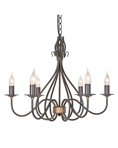 Elstead Lighting Windemere 6 Light Chandelier In Rust/Gold Patina Finish