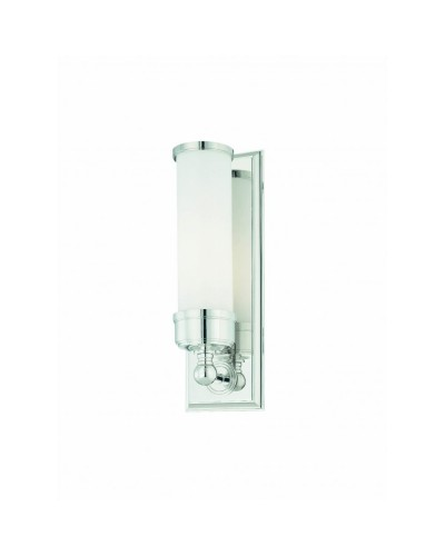 Elstead Lighting Worcester 1 Light Bathroom Wall Light In Polished Chrome Finish With Opal Glass Shade (IP44)