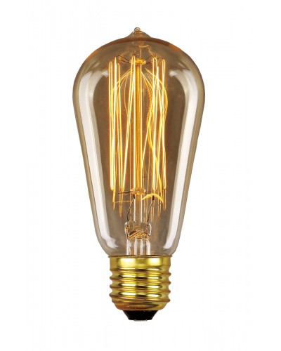 Elstead Lighting Vintage Style Filament Bulb: 30 Watt E27 Edison Screw; Valve Shaped