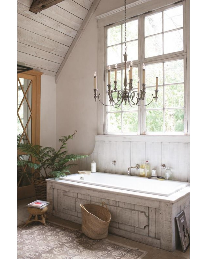 Elstead lighting hinkley yorktown 9 light chandelier in - Salle de bain shabby ...