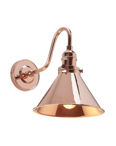 Elstead Lighting Provence 1 Light Wall Light In Polished Copper Finish With Adjustable Knuckle Joint