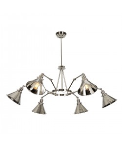 Elstead Lighting Provence 6 Light Chandelier In Polished Nickel Finish With Adjustable Knuckle Joints