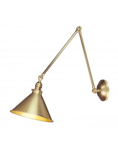 Elstead Lighting Provence Grande 1 Light Wall Light or Pendant In Aged Brass Finish With Adjustable Knuckle Joints