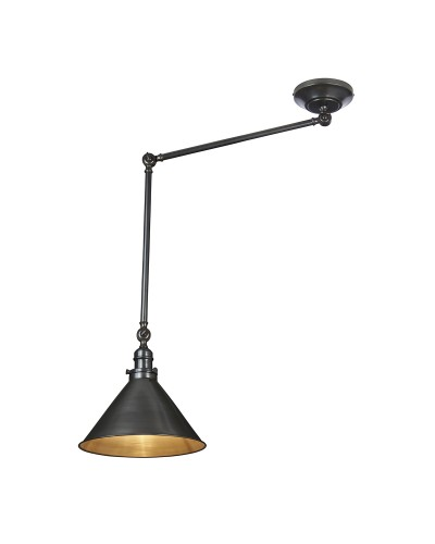 Elstead Lighting Provence Grande 1 Light Wall Light or Pendant In Old Bronze Finish With Adjustable Knuckle Joints