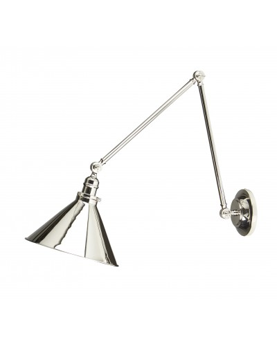 Elstead Lighting Provence Grande 1 Light Wall Light or Pendant In Polished Nickel Finish With Adjustable Knuckle Joints