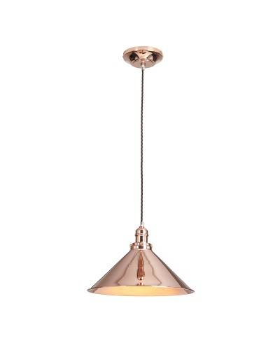 Elstead Lighting Provence 1 Light Pendant In Polished Copper Finish With Height Adjustable Cord (On Installation Only)
