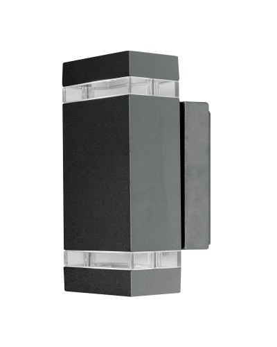 Elstead Lighting Focus LED 7.6W Outdoor Twin Wall Light In Dark Grey Finish